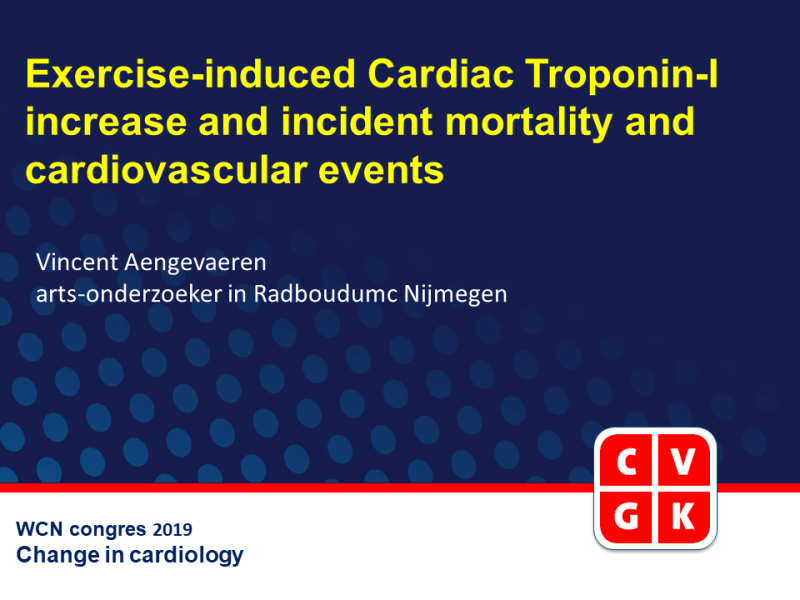 Slides | Exercise-Induced Cardiac Troponin I Increase and Incident Mortality and Cardiovascular Events