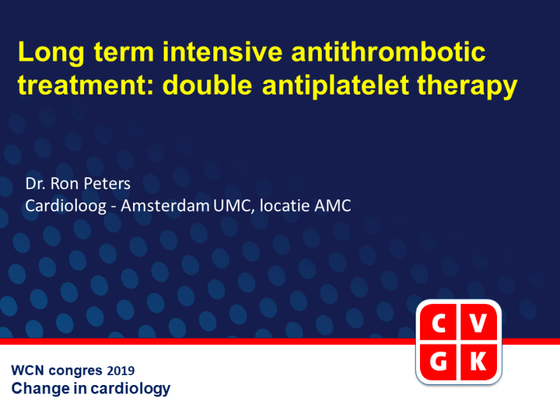 Slides | Long-term intensive antithrombotic treatment: double antiplatelet therapy