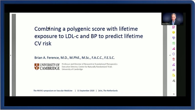 Combining a polygenic score with lifetime exposure to LDL-c and BP to predict lifetime CV risk